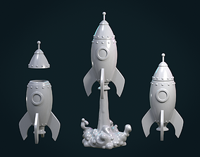 Cartoon Rocket 3D printable model