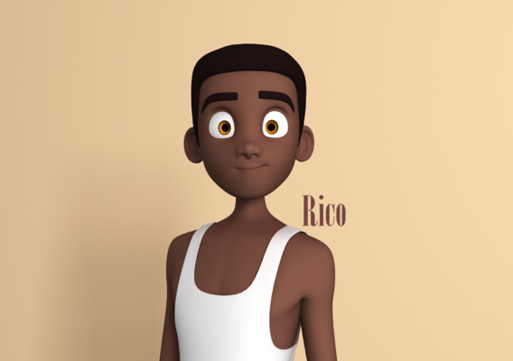 Rico Stylised Male Teen character