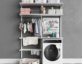 3D IKEA wall-mounted module Algot 12 washing machine