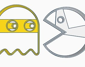 3D printable model Pac-Man cookie Cutter Set
