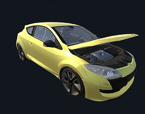3D model low-poly Game Ready Real Car 6