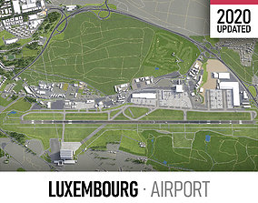 3D model Luxembourg Airport - LUX