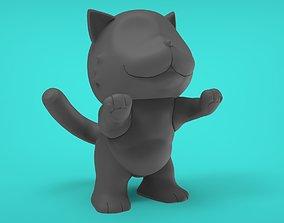 Cat asking 3D printable model