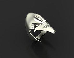 3D printable model Ravens skull ring