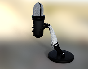 3D model Microphone Studio retro