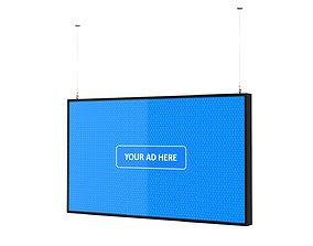 3D model Digital Panel Horizontal 49 Inch
