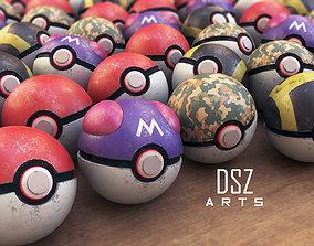 Pokeballs 3D model