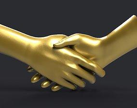 shake hands 3D printable model