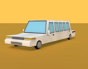 3D model Low Poly Limousine
