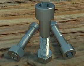 3D Nuts Bolts 56853