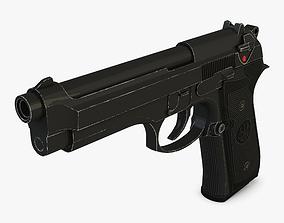 Beretta M9 army 3D model