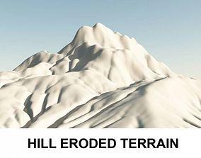 3d Terrain Eroded Hill