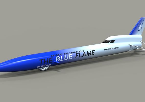 Blue Flame jet car