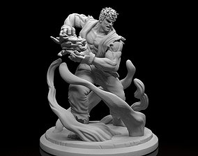 Ryu Street Fighter model Stl file ready for printing