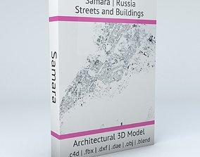3D Samara Streets and Buildings