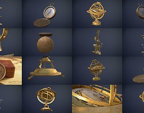3D Old science-related props game-ready assets