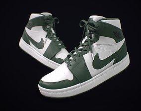 Sneaker Nike Air Jordan White Green 3D model