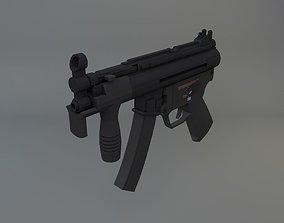 3D model low-poly Heckler and Koch MP5K
