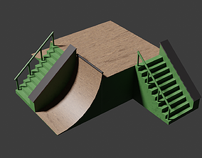 Skate Ramp 01 3D model