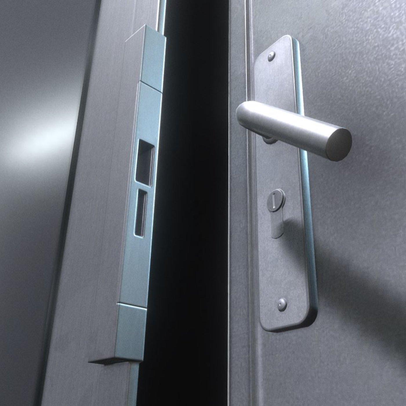 Animated Metal Door Version 2 Handle