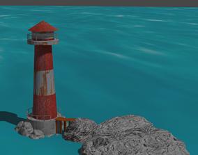 lighthouse tower 3D