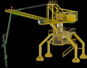 Ship unloader for bulk material 3D asset