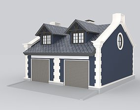 3D model Detached Garages for two cars