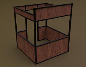 3D asset Stall stand 03 R
