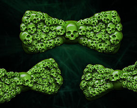 Skulls Bowtie 3D printable model