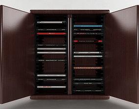 3D model 40 Disc CD Cabinet