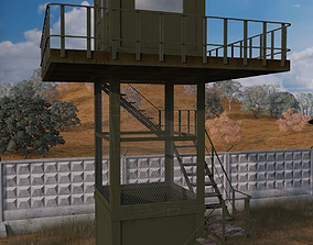 The armored observation tower 3D asset