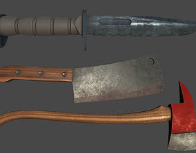 Melee Weapon Pack 14 weapons 3D asset