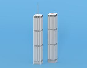 3D asset World Trade Center Twin Towers New York