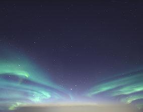 3D model Skydome HDRI - Northern Lights
