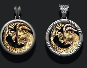 Horoscope Capricorn pendants pack 3D printable model