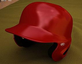 Baseball Batting Helmet 3D