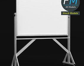 3D model Reversible freestanding whiteboard