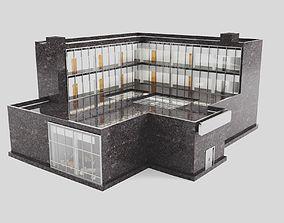 3D model Boutique Hotel exterior and interiors