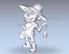 3D Model of Fisherman