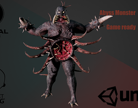 Abyss Monster 3D model animated