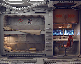 sci fi rooms and textures 3D model futuristic
