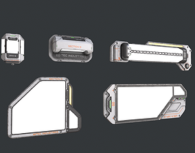 Scifi Lights pack 01 3D asset