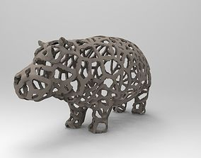 3D printable model Hippo Voronoi