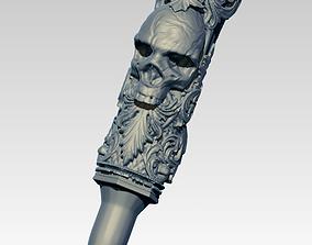 3D print model Bullet pendant with Skull