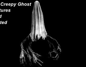 3D asset Creepy Ghost