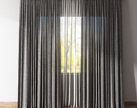 Curtains and tulle 2 3D asset