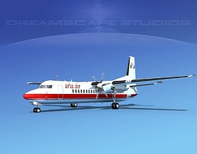 3D model Fokker 50 Aria Air