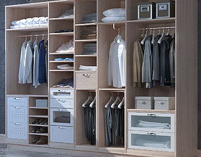 3D Set for clothes and shoes cabinet