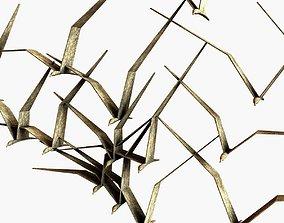 3D model Brass Birds in Flight by C Jere