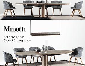 3D model Minotti Dining Bellagio set 1 Type H67